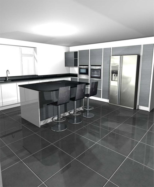 48D 48D CAD Plan And Design Service In Wrexham Adorable Kitchen Design Service